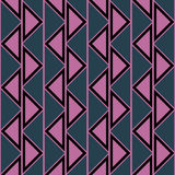 Seamless vector abstract pattern. symmetrical geometric repeating background with decorative triangles. Simle graphic design for w. Eb backgrounds, wallpaper Stock Photos
