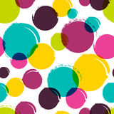 Seamless vector abstract pattern with watercolor blots, stains, Stock Photos