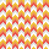 Seamless vector, abstract, red, orange, retro, pixel arrow pattern. Pointing up Stock Photos