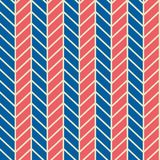 Seamless vector abstract retro 60s ribs blue and red stereo pattern. For fabric, craft, wrapping stock illustration