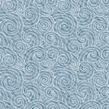 Seamless vector abstract wave pattern. Gray curl background. Stock Photo