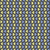 Seamless vector abstract zig zag pattern. symmetrical geometric repeating background with decorative rhombus, triangles. Simle gra. Phic design for web Royalty Free Stock Image
