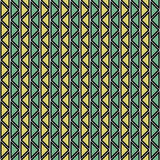 Seamless vector abstract zig zag pattern. symmetrical geometric repeating background with decorative rhombus, triangles. Simle gra. Phic design for web Stock Photo