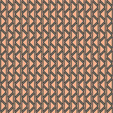 Seamless vector abstract zig zag pattern. symmetrical geometric repeating background with decorative rhombus, triangles. Simle gra Stock Photography