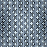 Seamless vector abstract zig zag pattern. symmetrical geometric repeating background with decorative rhombus, triangles. Simle gra. Phic design for web Royalty Free Stock Photography