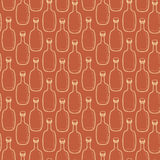 Seamless vector alcohol bottles pattern Royalty Free Stock Photo