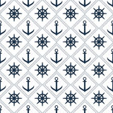 Seamless vector anchor pattern backgroun Stock Photos