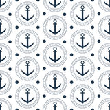 Seamless vector anchor pattern Royalty Free Stock Photography