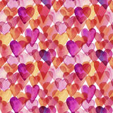 Seamless vector artistic design watercolor love pattern Royalty Free Stock Images