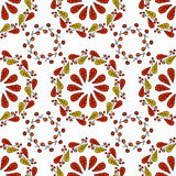 Seamless Vector autumn leaves on white background. Floral pattern with autumn leaves. Fashion style for prints, silk textile, cush Stock Images