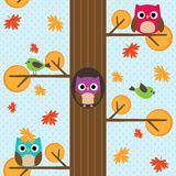 Seamless vector autumn pattern Stock Photos