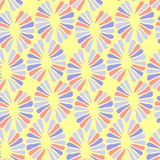 Seamless vector baby pattern with retro flowers. For fabric, textile, wrapping, craft Stock Images