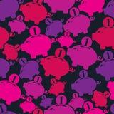 Seamless vector  backdrop with piggybank symbol, financial theme Stock Photo