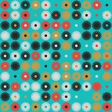Seamless vector background with abstract geometric pattern stock illustration