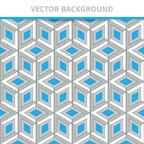 Seamless vector background. Abstract Pattern three-dimensional squares. Stock Photography