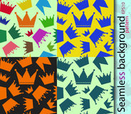 Seamless vector background for a background, packing crowns. Seamless vector pattern for background, packing Royalty Free Stock Image