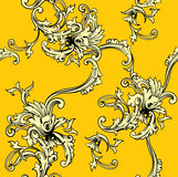 Seamless vector background. Baroque pattern. Royalty Free Stock Image