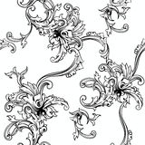 Seamless vector background. Baroque pattern. Stock Photo