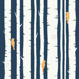 Seamless vector background with birch forest Royalty Free Stock Photo