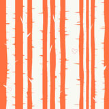 Seamless vector background with birch forest Royalty Free Stock Photography