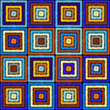 Seamless vector background in the bohemian style. Royalty Free Stock Images