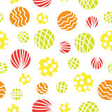 Seamless vector background with circles. Royalty Free Stock Photo