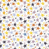 Seamless vector background with colorful stars. On white Stock Photos
