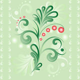 Seamless vector background with cowberry bushes. Royalty Free Stock Images