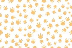Seamless vector Background - Dog foot print Stock Photos