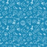 Seamless vector background doodle pattern Stock Images