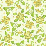 Seamless vector background with floral pattern. Royalty Free Stock Photos