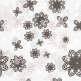 Seamless vector background with flower Stock Photo