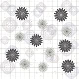 Seamless vector background with flower Stock Images