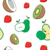 Seamless vector background. Fruit Pattern Stock Photography