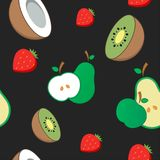 Seamless vector background. Fruit Pattern Royalty Free Stock Image