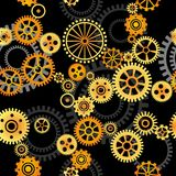 Seamless vector background - gears. Seamless vector pattern- gears on dark background Royalty Free Stock Images