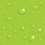 Seamless vector background. Green drops Stock Photos