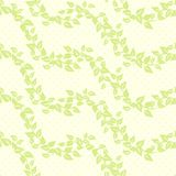 Seamless vector background with leaves Royalty Free Stock Photography