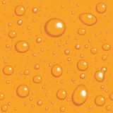Seamless vector background. Orange drops on glass Stock Photo