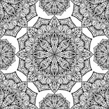 Seamless, vector background with oriental mandalas Stock Photography