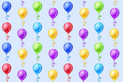 Seamless vector background with party balloons Royalty Free Stock Photos