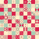 Seamless vector background in patchwork style with geometric pat Royalty Free Stock Photography