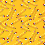 Seamless vector background with pencils Royalty Free Stock Photo