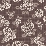 Seamless vector background with roses Royalty Free Stock Images