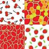 Seamless vector background of slices of vibrant orange Stock Photo