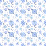 Seamless Vector Background With Snowflakes Royalty Free Stock Photography