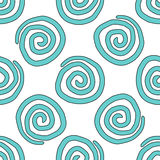 Seamless vector background-a spiral is drawn by hand Stock Images