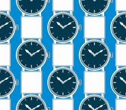 Seamless vector background with stylish wristwatches, elegant ba Royalty Free Stock Photo