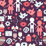 Seamless vector background. Valentine s Day. Royalty Free Stock Images