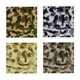 Seamless vector backgrounds - military camouflage Stock Image